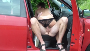 Femdom with small tits russian hitchhiker