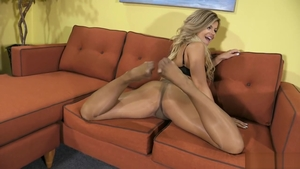 Blonde Adriana Sephora in stockings fetish bends to get fucked