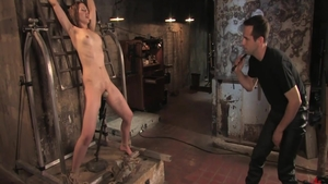 Beautiful babe caning & torture