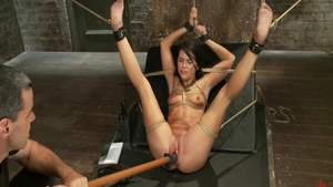 Hot babe Adriana Chechik agrees to BDSM