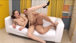 Busty brunette Noelle Easton wishes rough nailing