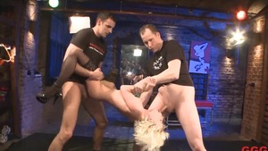 Dirty young german blonde haired getting facial