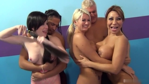 Ava Devine with Laela Pryce doggy style