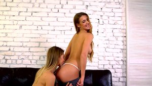 Very hot big butt lesbians Alexis Crystal sucking dick