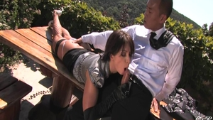 Lea Lexis ass pounded outdoors