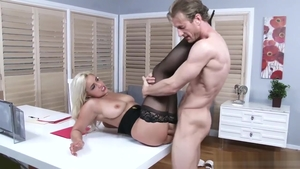 Kylie Page goes wild on cock