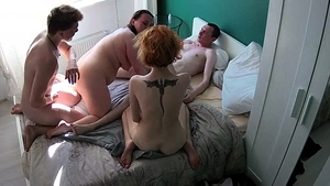 Group sex at the party with swinger