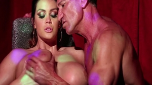 Cum on face scene accompanied by tall fetish Alison Tyler