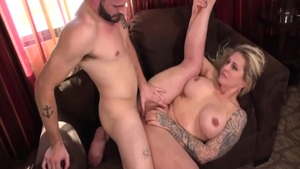 Stepmom Ryan Conner and big boobs Nathan Bronson bends over