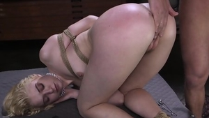 Blonde feels in need of tied up