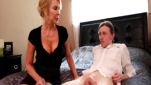 Nailing in company with big tits blonde Erica Lauren