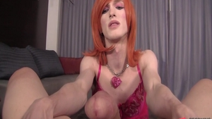 Crossdresser has a passion for hard pounding
