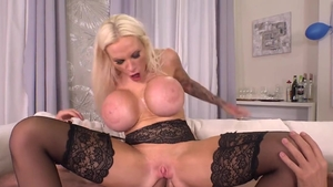 Big boobs Angel Wicky and Sophie Anderson gangbang scene