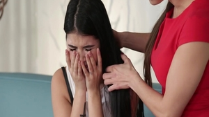Hard pounding accompanied by young teen Mea Melone