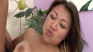 Facial escorted by big tits asian MILF Jackie Lin