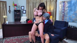Busty stepmom Eva Karera has a soft spot for hard slamming HD