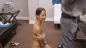 Sophia Torres licking big dick at the audition