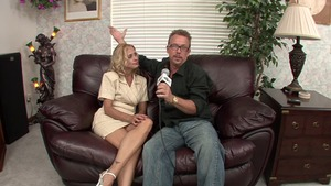 Good fucking next to blonde Payton Leigh after interview