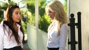 Elsa Jean in denim jeans does what shes told