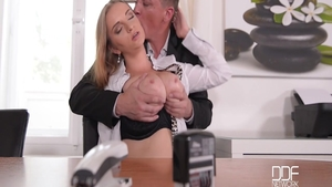 Stepmom Steve Holmes fucked all the way in office