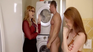 Hard pounding along with busty stepmom Chad White