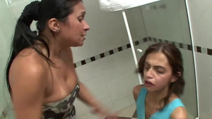 Submissive ass licking alongside lesbians Alessandra Marques
