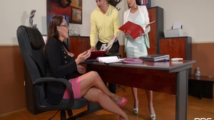 Laura Orsolya along with Laura Sweet threesome