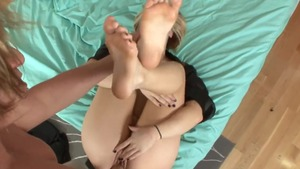 Footjob in the Hollywood with kinky blonde Ash Hollywood