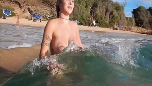 Shaved busty babe Summer Day rough dick sucking