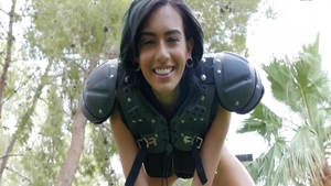 POV nailing starring big tits brunette Janice Griffith