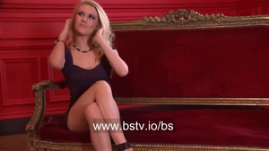 Michelle Moist masturbates with large dildo