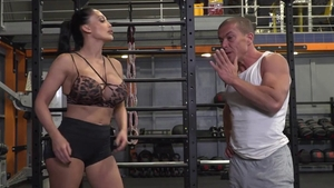 Aletta Ocean fucked missionary in the gym