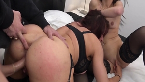 Hardcore rough nailing in the company of french babe
