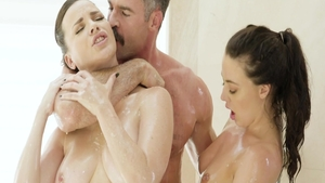 Very hot Dana Dearmond brunette threesome porn