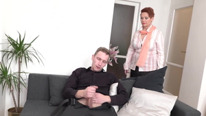 Hard slamming in the company of young amateur