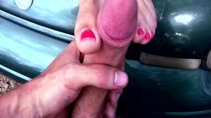 Incredible amateur finds irresistible POV sex scene outdoors