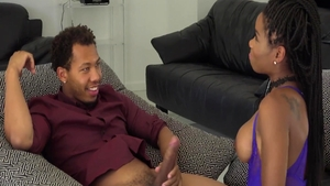 Big tits ebony babe Mya Mays enjoys greatly rough fucking