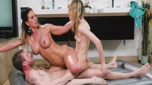 Threesome big boobs ebony Cherie Deville