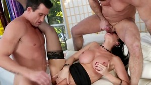 Big tits belgian stepmom Eva Karera really enjoys threesome