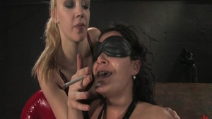 Plowing hard in company with lesbian Charley Chase