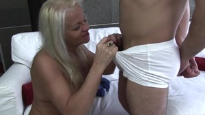 Busty granny has a taste for pussy sex