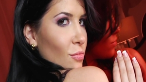 Dirty latina Rebeca Linares in her lingerie