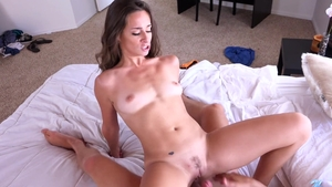 Young & petite Cassidy Klein nailed rough