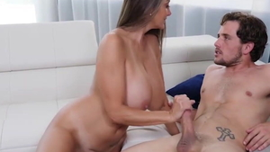 Big boobs & super hot MILF Ava Addams brutal throat fuck