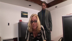 Nicole Aniston in glasses cumshot