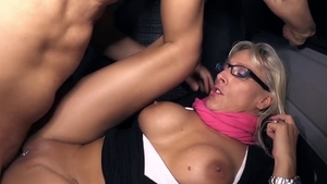 Naughty german hard blowjob cum