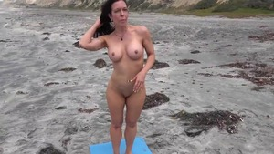 Flashing in public together with nude stepmom