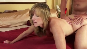 Large tits blonde haired Jodi West rough creampie cock sucking