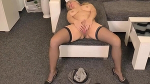 Rough sex in company with blonde