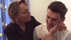 Real fucking in company with french mature